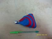台南神奇拉鍊包→特製篇(39):特39-193-新作小粽子包(紅+孔雀藍)