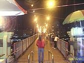 北台灣風景圖片:碧潭吊橋入口夜景