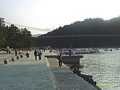 北台灣風景圖片:碧潭河邊堤岸風景