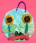 Paper Clay Art- Flowers, Leaves and Bugs:2006 Eva. Paper Clay Art- Flowers, Leaves and Bugs