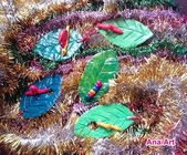 Paper Clay Art- Flowers, Leaves and Bugs:2005 Paper Clay Art- Flowers, Leaves and Bugs