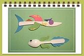 巧手玩環保-免洗碗河豚 免洗刀叉創作... ...:免洗刀鯊魚 & 免洗湯匙小蝌蚪