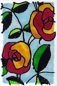創意玻璃彩繪:rose 玻璃彩繪 台北恩那藝術
