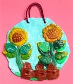 Paper Clay Art- Flowers, Leaves and Bugs:2006 Renee. Paper Clay Art- Flowers, Leaves and Bugs