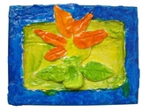 Paper Clay Art- Flowers, Leaves and Bugs:2006 David 6歲 Paper Clay Art- Flowers, Leaves and Bugs