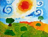 旋轉的風景:David.9歲.梵谷 旋轉的風景 恩那藝術教育