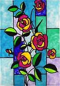 創意玻璃彩繪:玻璃彩繪 Flower 台北恩那藝術