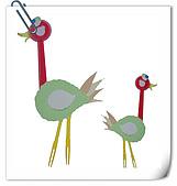 巧手玩環保-免洗碗河豚 免洗刀叉創作... ...:免洗叉子湯匙做鴕鳥