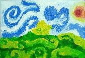 旋轉的風景:Angel.9歲.梵谷 旋轉的風景 恩那藝術教育