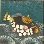黏土版畫 Claybord :001砲彈魚.jpg