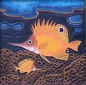 黏土版畫 Claybord :003火箭魚.jpg