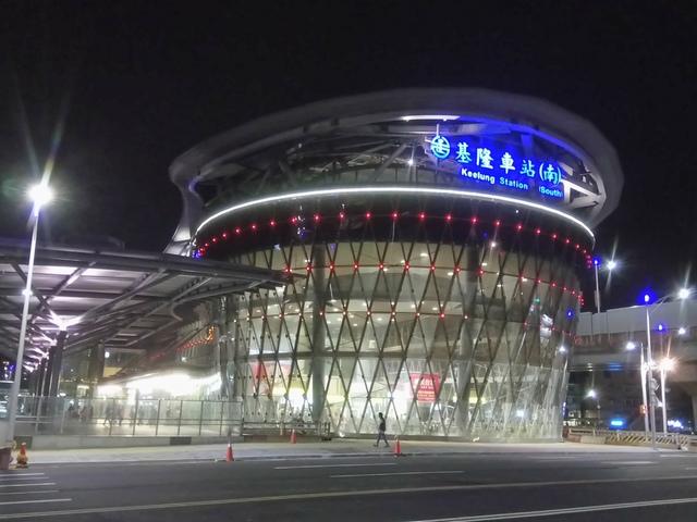 DSC_8077.JPG - 基隆  新火車站 夜景色