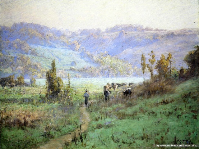 [wall001_com]_Steele_Theodore_Clement_In_the_Whitewater_Valley_near_Metamora.jpg - Theodore  Clement