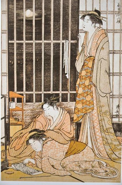 Kiyonaga_Le_neuvième_mois_(Minami_juni_ko).JPG - 浮世繪之  鳥居清長