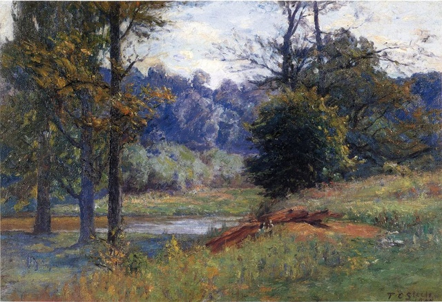 Steele_Theodore_Clement_Along_the_Creek_aka_Zionsville.jpg - Theodore  Clement