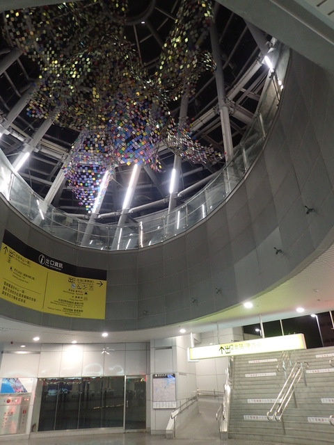 PA049425.JPG - 基隆  新火車站 夜景色