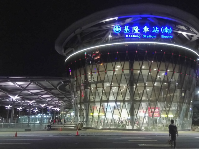 DSC_8078.JPG - 基隆  新火車站 夜景色