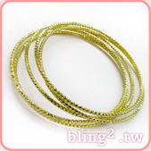 晶鑽飾品—影劇造型飾品:真空電鍍保色鍍金手環