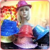 晶鑽飾品—造型好搭檔:亮片爵士帽