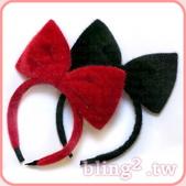 晶鑽飾品—特殊造型髮箍:晶鑽飾品Bling2shop—仿馬毛蝴蝶結髮箍