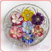 晶鑽飾品—日本舞飾品:晶鑽飾品—日式布花髮夾