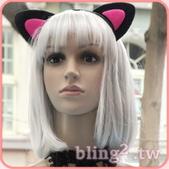 晶鑽飾品—特殊造型髮箍:晶鑽飾品Bling2shop—貓耳髮箍