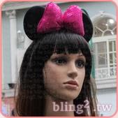 晶鑽飾品—特殊造型髮箍:晶鑽飾品Bling2shop—米妮亮片飽滿髮箍