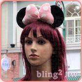 晶鑽飾品—特殊造型髮箍:晶鑽飾品Bling2shop—米妮飽滿髮箍