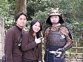20080404日本關西櫻花滿開遊:銀格寺--武士合照