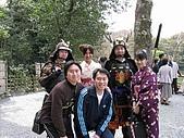 20080404日本關西櫻花滿開遊:銀格寺--武士、和服眉眉