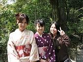 20080404日本關西櫻花滿開遊:銀格寺--和服眉眉與我