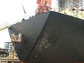 船舶進塢紀錄@廣州:整體油漆過後 船名也需重新漆過
