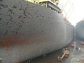 船舶進塢紀錄@廣州:01 May 噴完砂後 先上一層灰色底漆