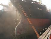 船舶進塢紀錄@廣州:30 Apr 進塢~ 一早就開始噴砂