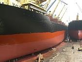 船舶進塢紀錄@廣州:02 May 油漆工程初步完成 煥然一新的呢~~
