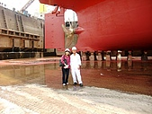 船舶進塢紀錄@廣州:與70有5的張工合照~ 老當益壯的啦!!