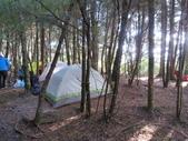 190406~閂山之我的第八座百岳:走沒多久就看到樹林裡的數座帳篷
