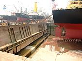 船舶進塢紀錄@廣州:乾塢裡放水的閘門開關