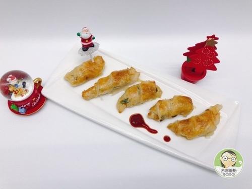 蔥香蝦卷~氣炸聖誔料理