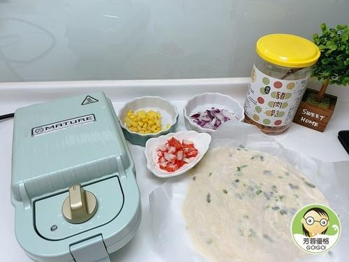 蔥油餅蟹肉包~熱壓機食譜-婚姻經營