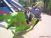 97.10.04 月眉探索樂園:飛象藍天!需要親自手動才能上下的小飛象~