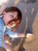 """20319503/0922)) _ 海邊,八里:沙沙沙""""感覺很棒"""