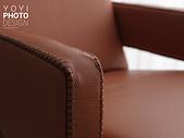 L型大型沙發攝影:特寫-可將沙發的一針一線,手工製作的皮料和縫線拍的仔細