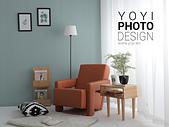 L型大型沙發攝影:較明亮的風格