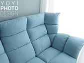 L型大型沙發攝影:特寫