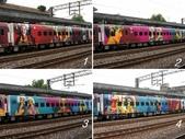 網誌四格圖:台鐵 彩繪列車---洄瀾之心