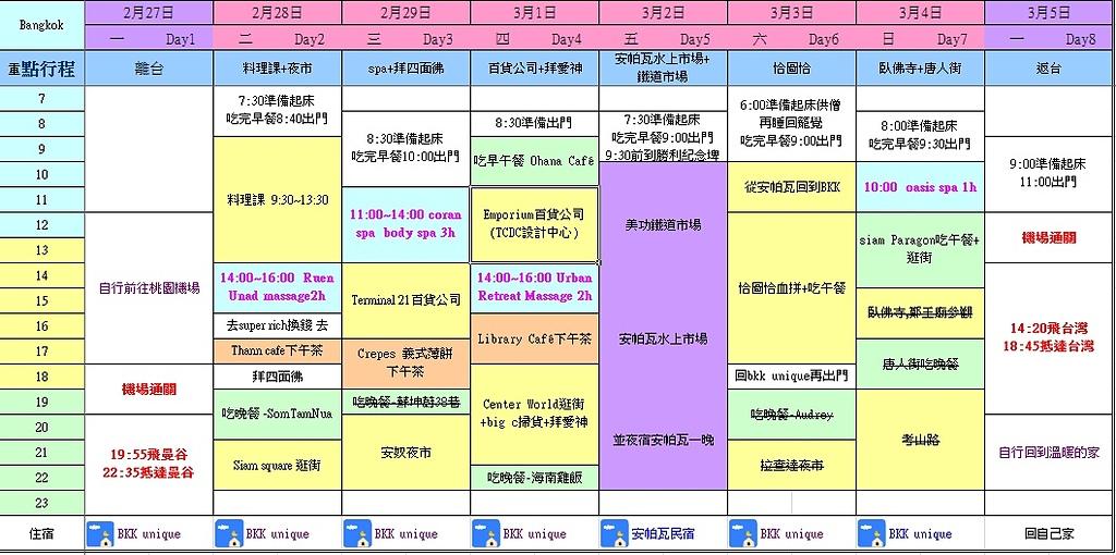 i ♥ Bangkok:Schedule.jpg