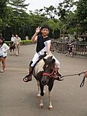 我:六福村騎馬1