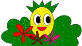 鳳梨頭Q版:鳳梨頭花