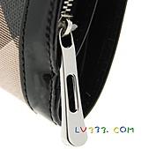 BURBERRY包/圍巾/皮夾:【LV超3A】BURBERRY 格紋中夾-黑色 (4).jpg